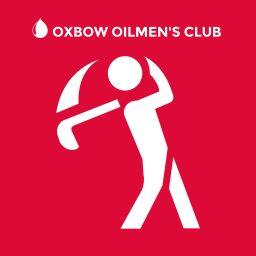 Graphic of man swinging golf club.